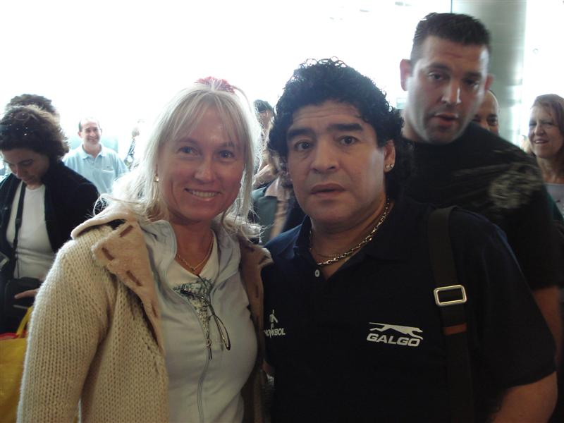Diego Maradona en Tsarina Taallessen